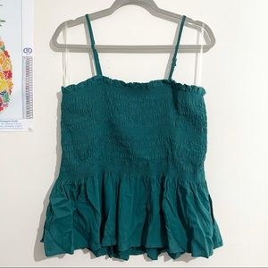 NWOT! LOVE, FIRE Teal Fit And Flare Sleeveless Top